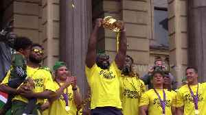 Rugby World Cup winners welcomed home by thousands on the streets of Cape Town [Video]
