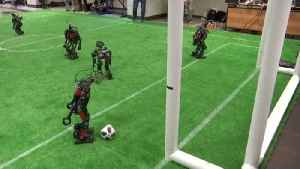 Battle Bots! Check Out These Robots Battling It Out On The Soccer Field! [Video]