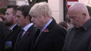 Boris Johnson and Jeremy Corbyn observe two-minute silence