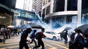 News video: Hong Kong rocked by violent clashes as protester shot by police officer