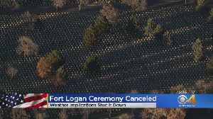Fort Logan National Cemetery Administrators Cancel Veterans Day Ceremony Due To Forecast [Video]