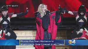 News video: Florida Fan Sues Madonna In Miami-Dade Over Concert Start Times