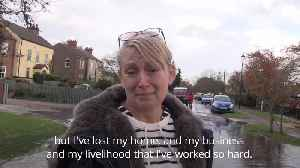 UK flooding: Woman moved to tears after losing home and business [Video]