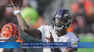 News video: Ravens' Lamar Jackson Joins Elite Club With Perfect Passer Rating, 2nd Player In NFL History With Multiple Games In One Season