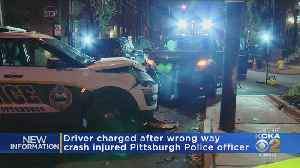 Driver Facing Charges In Wrong-Way Crash That Injured Pittsburgh Officer [Video]
