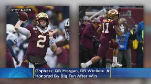 Gophers' QB Morgan, DB Winfield Jr. Honored By Big Ten After Win Over Penn State [Video]