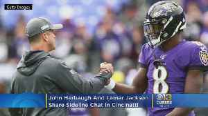 'You Changed The Game, Man,' | Every Ravens Fan Needs To See Coach John Harbaugh And Lamar Jackson's Sideline Chat In Cincy [Video]