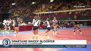 McFarland volleyball sweeps Bloomer, looks for first championship [Video]