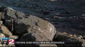 NATIONAL GUARD INSTALLS ROCK WALL IN DOLGEVILLE [Video]