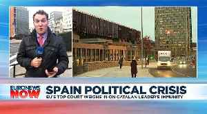 ECJ advice suggests jailed Catalan leader could have sought immunity as an MEP [Video]