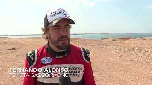 2019 Al Ula-Neom Cross-Country Rally in Saudi Arabia - Interview Fernando Alonso [Video]