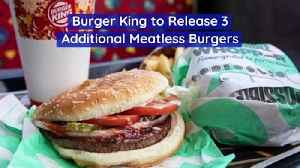 Burger King to Release 3 Additional Meatless Burgers [Video]