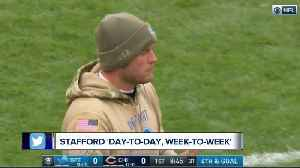 Matthew Stafford, Matt Patricia comment on the QB missing Bears game [Video]