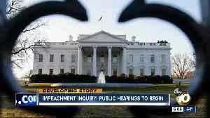 Public hearings to begin in impeachment inquiry [Video]