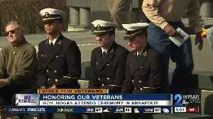 Governor Hogan honors veterans at ceremony in Annapolis [Video]