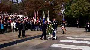 Pence lays a wreath, says every veteran a 'hero' [Video]