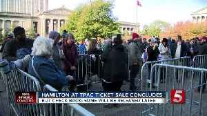 People wait in line for Hamilton tickets [Video]