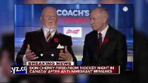 News video: Don Cherry fired from Sportsnet, Hockey Night In Canada