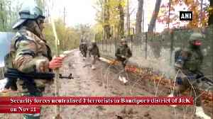 2 terrorists neutralised by security forces during encounter in JK Bandipora [Video]