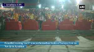 Priests perform evening 'aarti' on bank of Sarayu river in Ayodhya [Video]