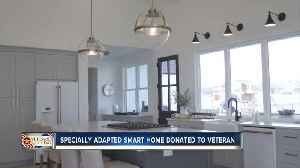 Adapted smart home donated to local veteran [Video]