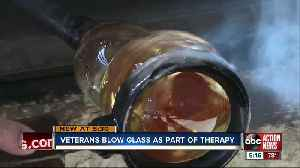 Art as therapy: Tampa Bay area vets use glass blowing to help with PTSD [Video]
