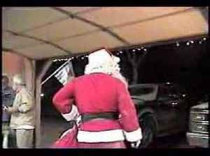 Man in Santa's Costume Falls From Garage Roof Trying to Make Grand Entrance [Video]