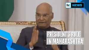 President's rule imposed in Maharashtra amid Congress-NCP-Shiv Sena talks [Video]