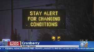 Snow Leaves White Coating Over Cranberry Twp. Overnight [Video]