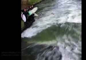 Surfer catches the rapid wave in Germany [Video]
