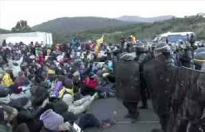 French police disperse Catalan protesters blocking major Spain-France road link [Video]