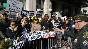 Trump Protested At Veterans Day Parade [Video]