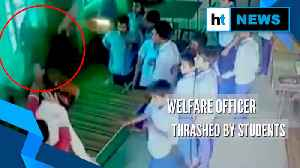 Child welfare officer thrashed by students in Raebareli, video goes viral [Video]