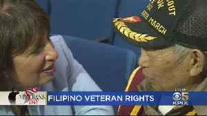 Speier Demands Benefits For Filipino War Heroes Who Fought With U.S. In World War II [Video]