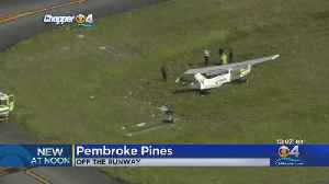 Person Hospitalized As Small Plane Veers Off Runway At Pines Airport [Video]