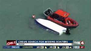 News video: Coast Guard searching for two missing boaters off Florida