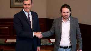 News video: Socialists and Podemos reach coalition deal in bid to form Spain's next government