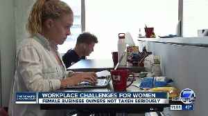 Survey: Women-owned businesses in Colorado face bias [Video]