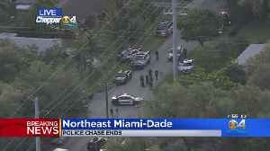 Police Chase Comes To An End In NE Miami-Dade [Video]