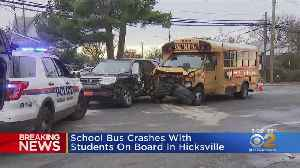 Long Island School Bus Involved In Crash [Video]