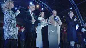 Stars of Last Christmas Emilia Clarke and Emma Thompson switch on Covent Garden Christmas lights [Video]