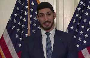 NBA star Enes Kanter appears on Capitol Hill in support of Turkish human rights legislation