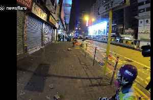 Hong Kong police charge protesters while firing tear gas in Mong Kok [Video]