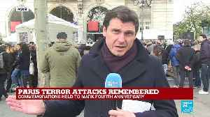 Paris marks fourth anniversary of terror attacks [Video]