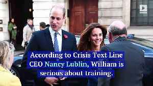 Prince William Looking to Volunteer as a Crisis Counselor [Video]