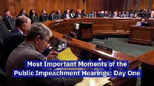 Most Important Moments of the Public Impeachment Hearings: Day One [Video]