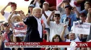 CBS News report on Trump's 2017 Sweden remarks [Video]