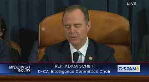 News video: Adam Schiff opening statement 1