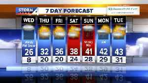 More snow on Wednesday before it slowly warms up [Video]