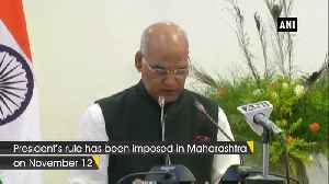 President's rule imposed in Maharashtra amid power struggle [Video]